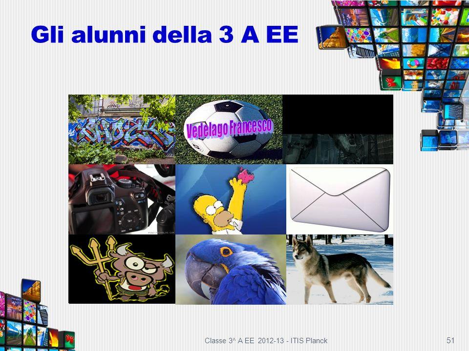 Gli alunni della 3 A EE 51 Classe 3^ A EE 2012-13 - ITIS Planck