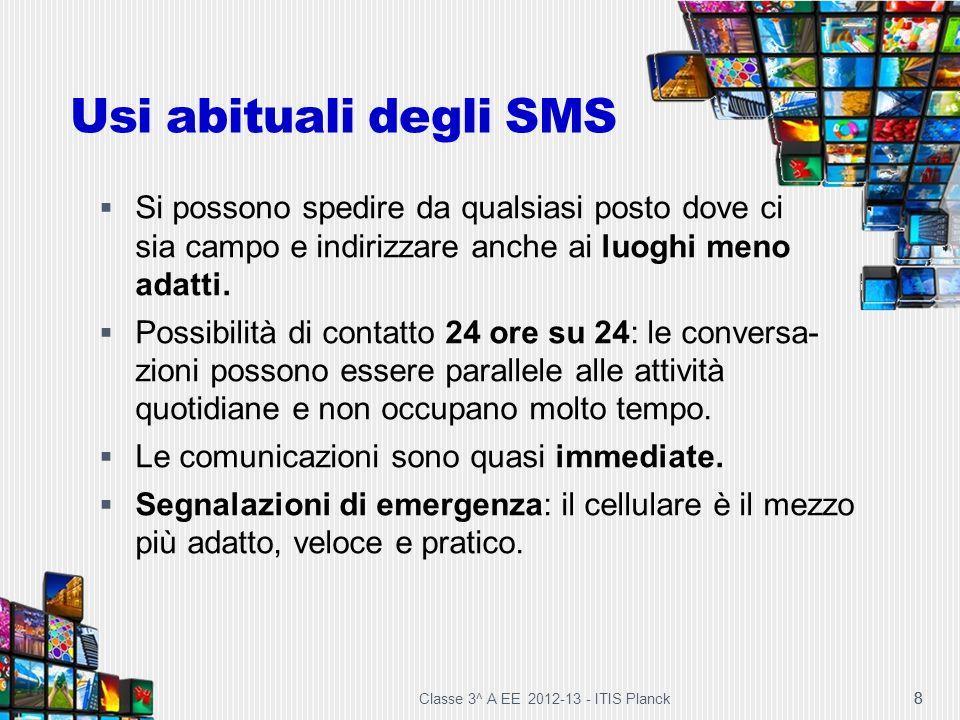 Usi abituali degli SMS Si possono spedire da qualsiasi posto dove ci sia campo e indirizzare anche ai luoghi meno adatti.