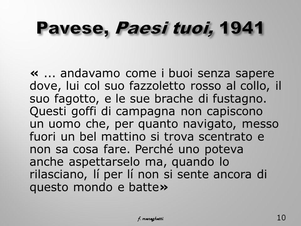 Pavese, Paesi tuoi, 1941