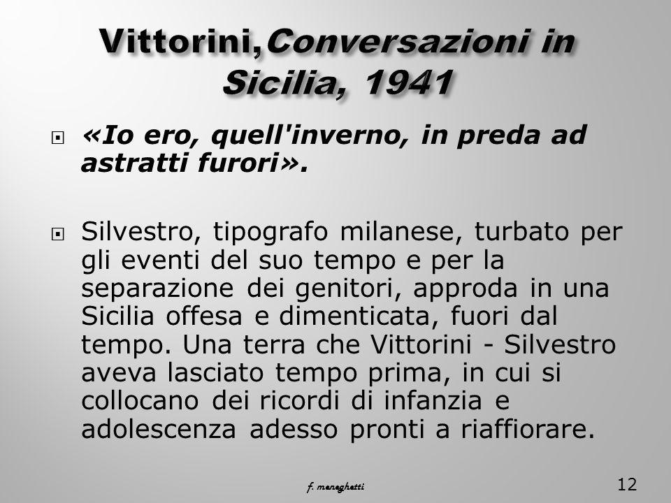 Vittorini,Conversazioni in Sicilia, 1941