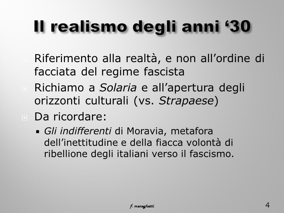 Il realismo degli anni '30