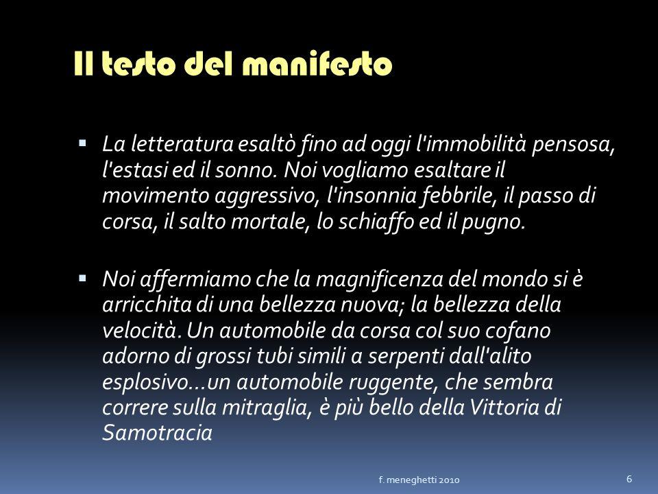 Il testo del manifesto