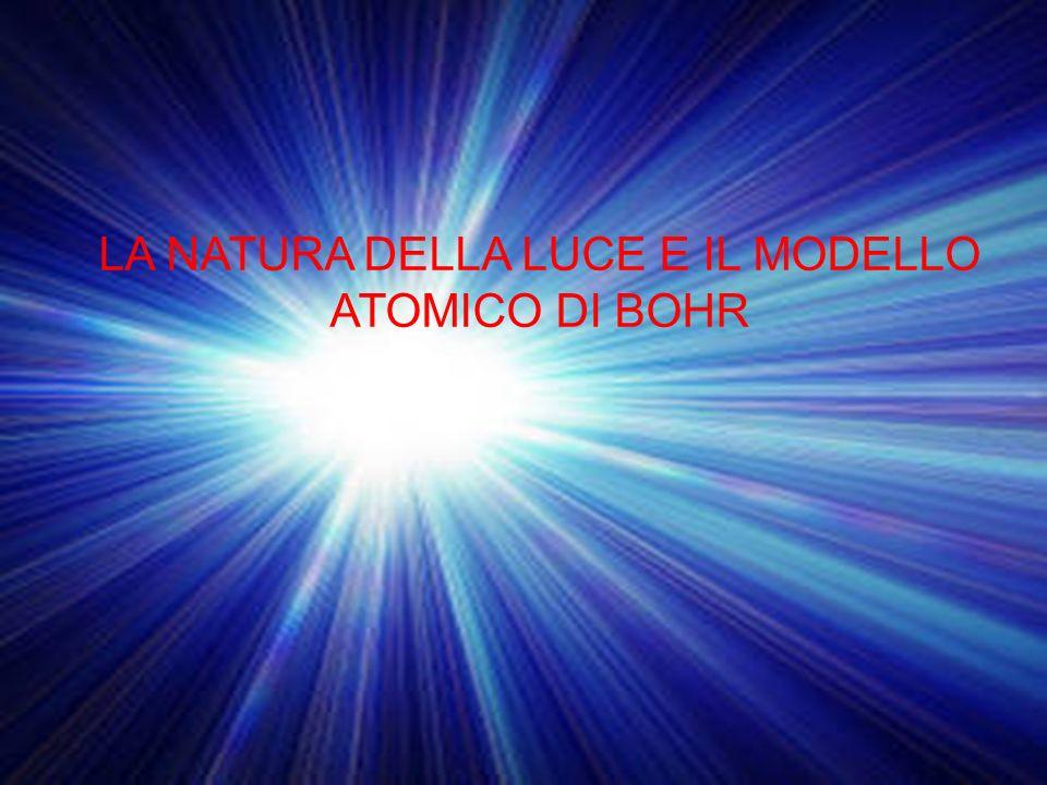 LA NATURA DELLA LUCE E IL MODELLO ATOMICO DI BOHR