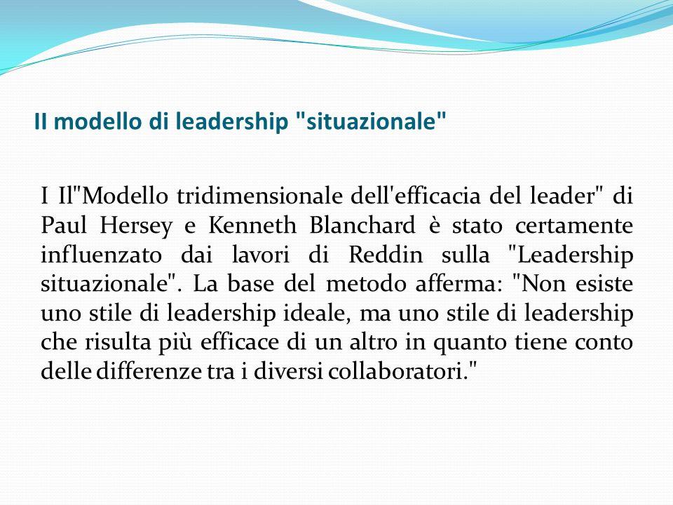 II modello di leadership situazionale