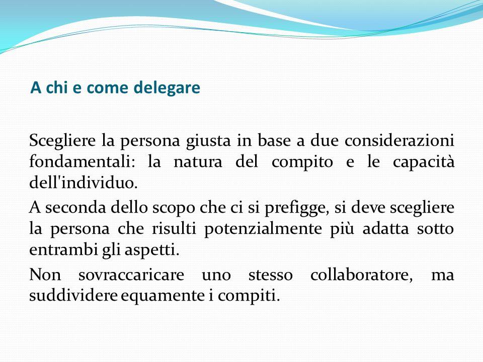 A chi e come delegare