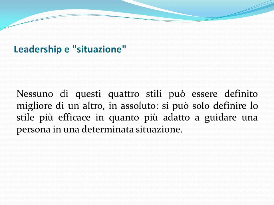 Leadership e situazione