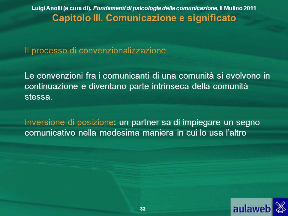 Il processo di convenzionalizzazione