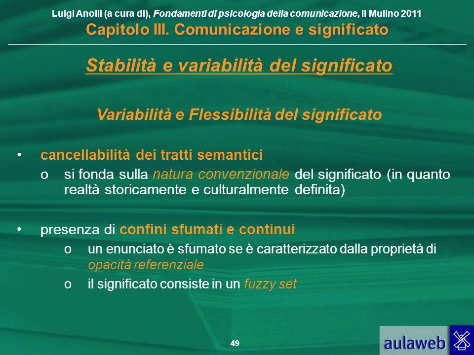 Stabilità e variabilità del significato