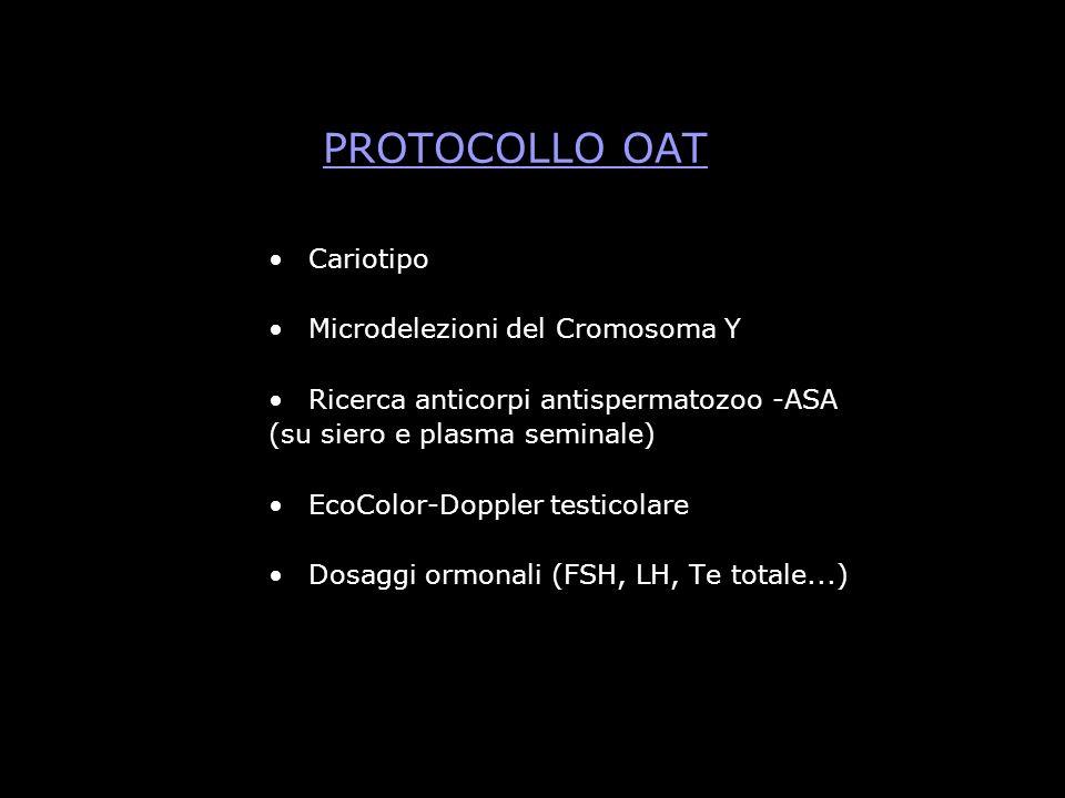 PROTOCOLLO OAT Cariotipo Microdelezioni del Cromosoma Y