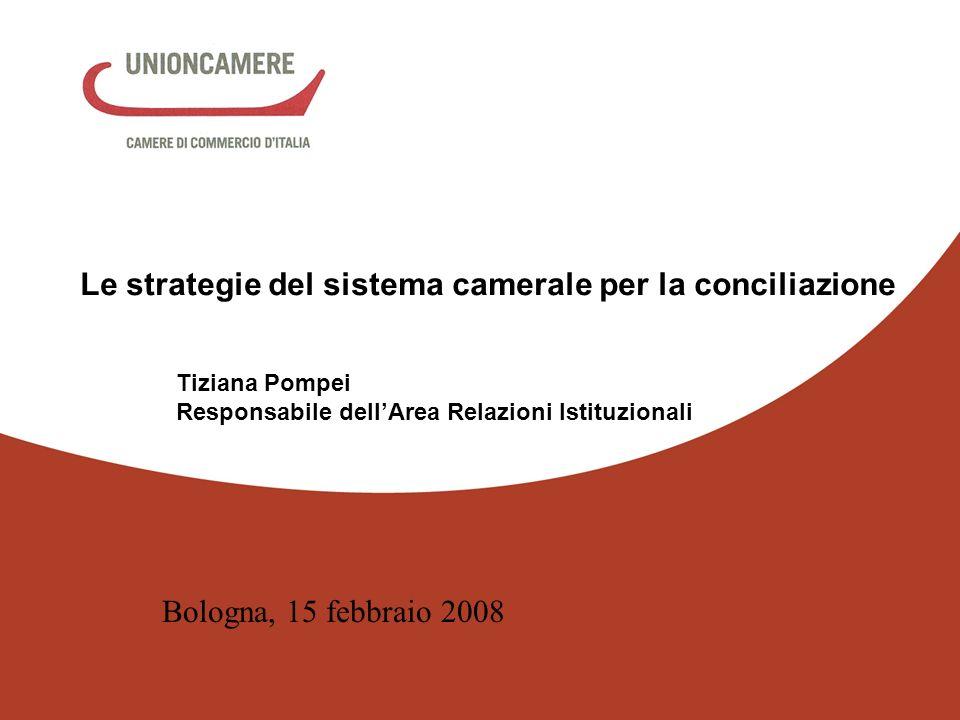 Le strategie del sistema camerale per la conciliazione