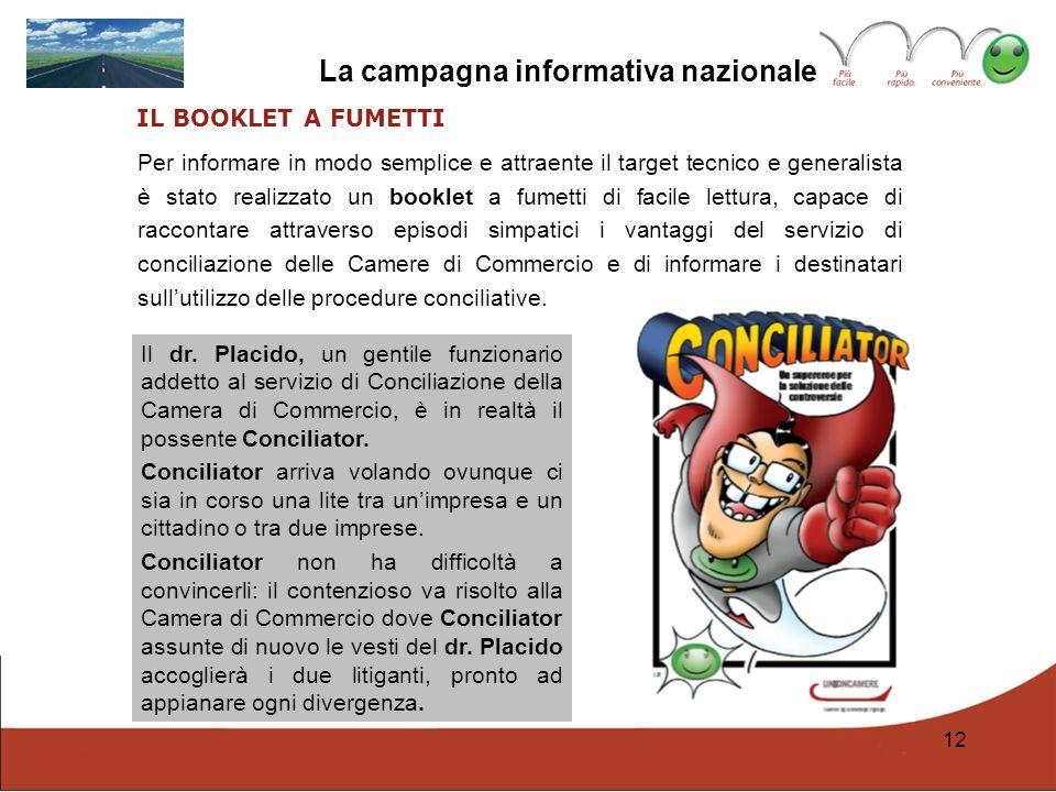 La campagna informativa nazionale