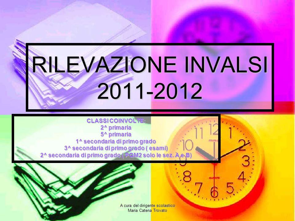 RILEVAZIONE INVALSI 2011-2012 CLASSI COINVOLTE: 2^ primaria