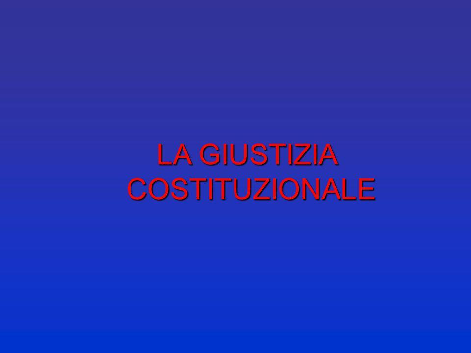 LA GIUSTIZIA COSTITUZIONALE