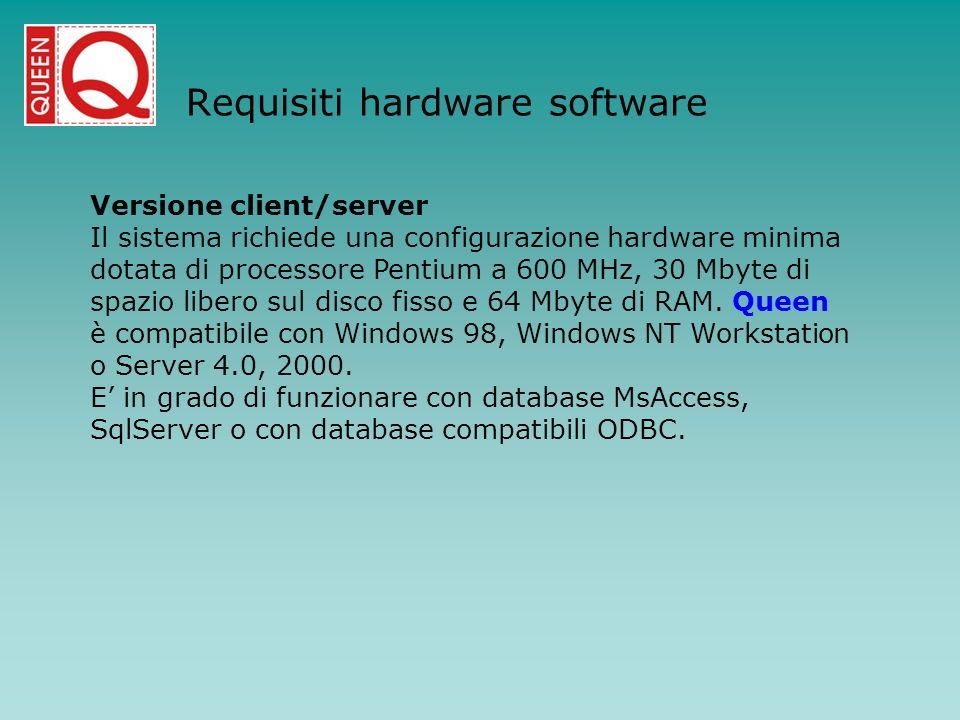 Requisiti hardware software
