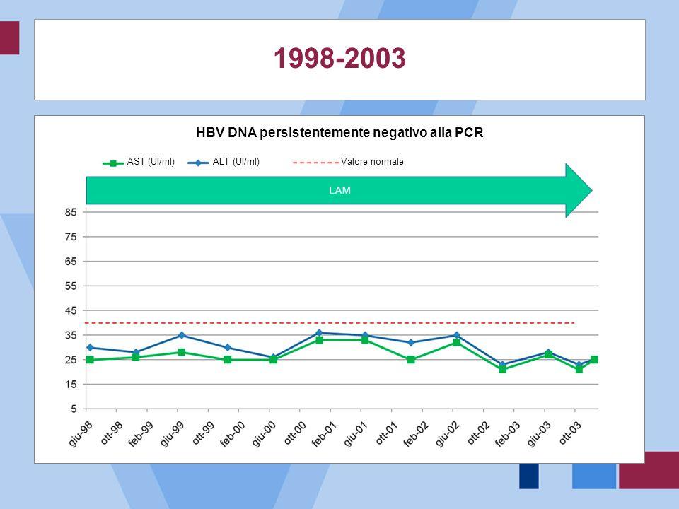 HBV DNA persistentemente negativo alla PCR