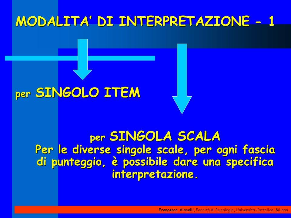 MODALITA' DI INTERPRETAZIONE - 1