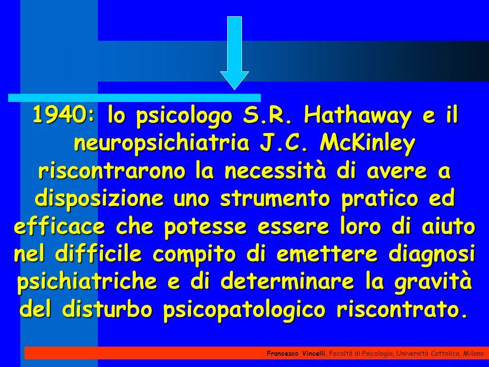 1940: lo psicologo S. R. Hathaway e il neuropsichiatria J. C