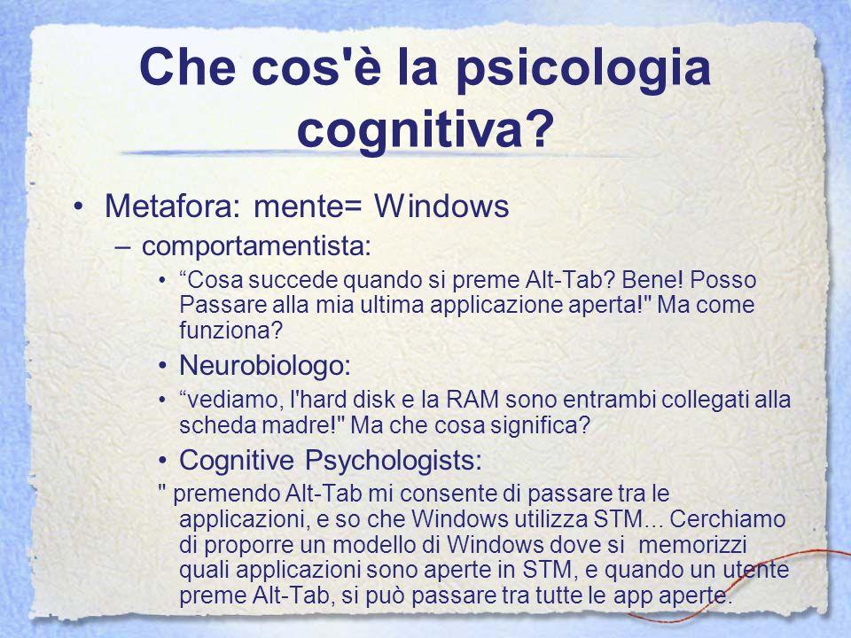 Che cos è la psicologia cognitiva