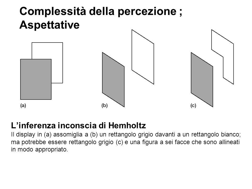 Complessità della percezione ; Aspettative