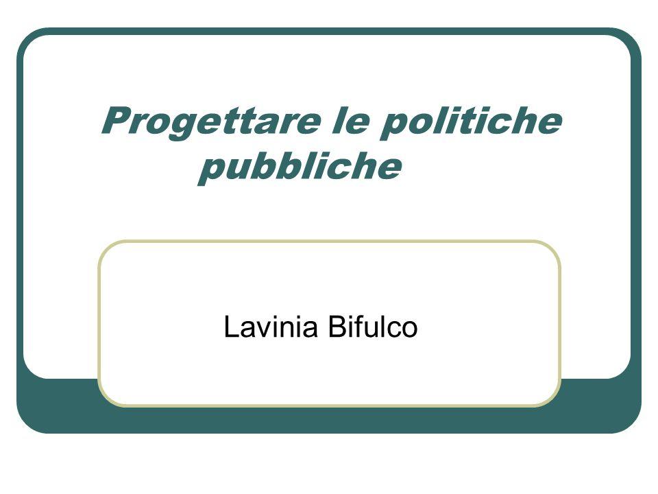 Progettare le politiche pubbliche