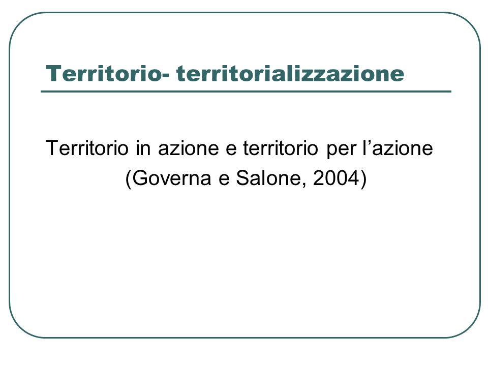 Territorio- territorializzazione