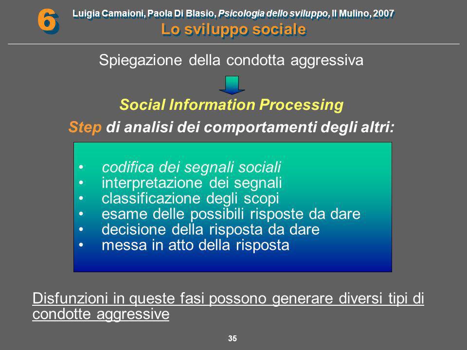 Spiegazione della condotta aggressiva Social Information Processing