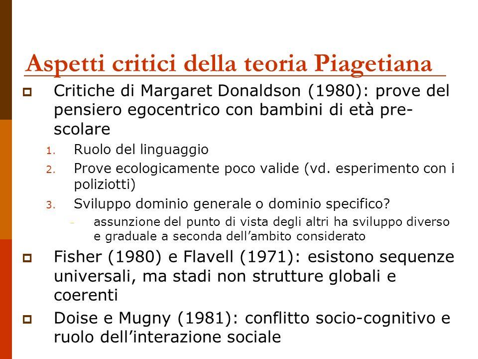 Aspetti critici della teoria Piagetiana