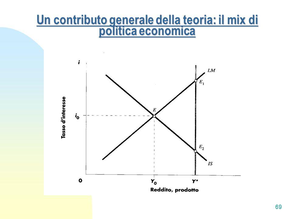 Un contributo generale della teoria: il mix di politica economica