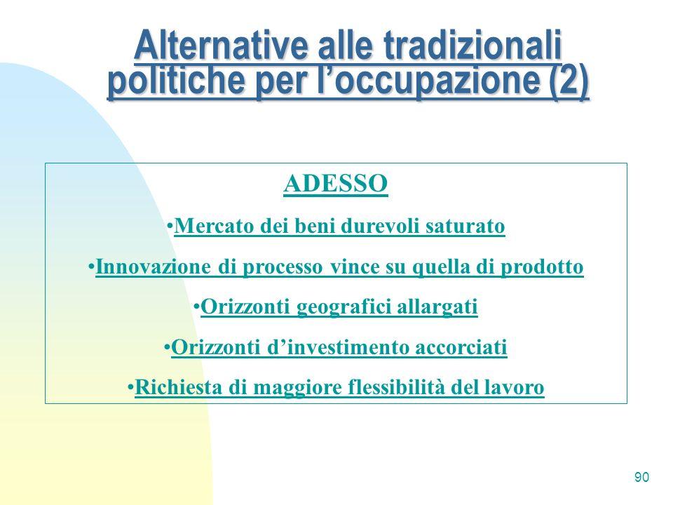 Alternative alle tradizionali politiche per l'occupazione (2)