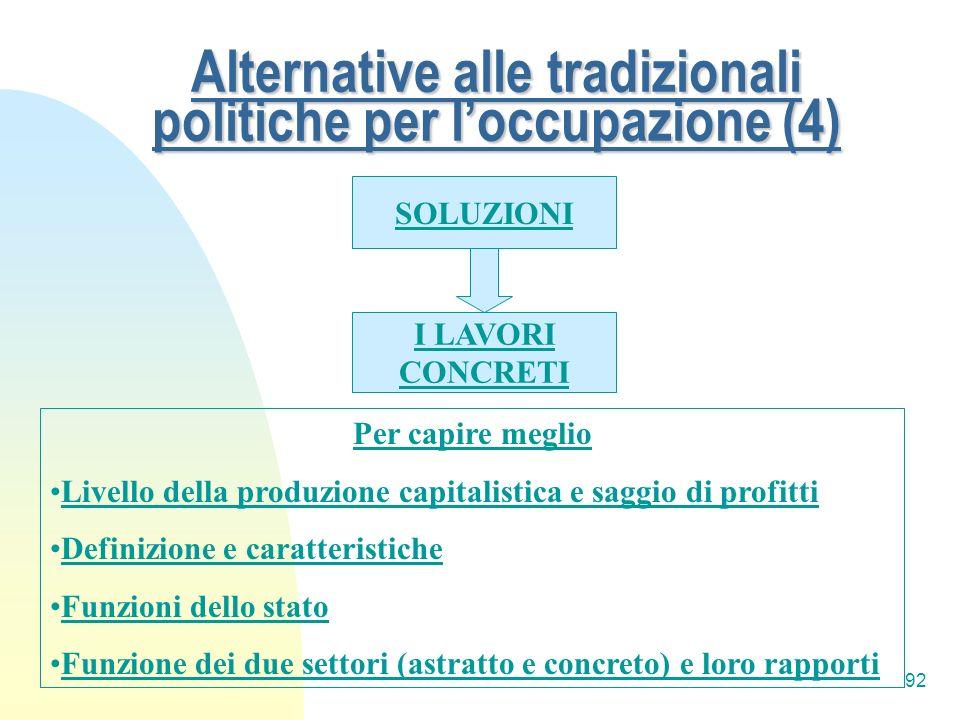 Alternative alle tradizionali politiche per l'occupazione (4)