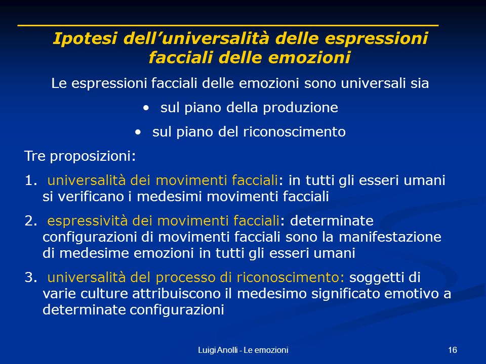Ipotesi dell'universalità delle espressioni facciali delle emozioni