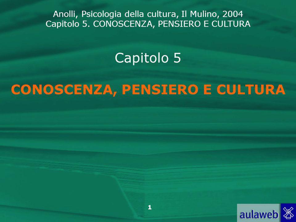 Capitolo 5 CONOSCENZA, PENSIERO E CULTURA