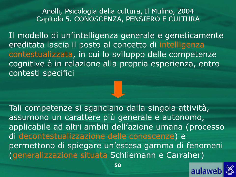 Il modello di un'intelligenza generale e geneticamente ereditata lascia il posto al concetto di intelligenza contestualizzata, in cui lo sviluppo delle competenze cognitive è in relazione alla propria esperienza, entro contesti specifici