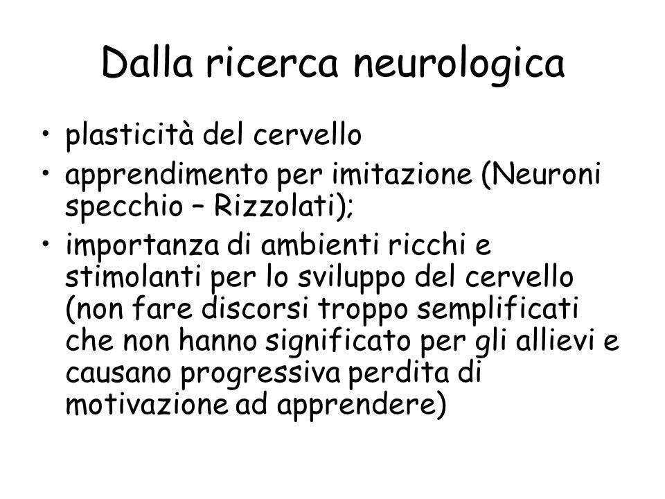 Dalla ricerca neurologica