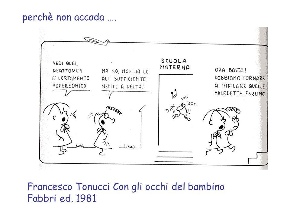 perchè non accada …. Francesco Tonucci Con gli occhi del bambino Fabbri ed. 1981