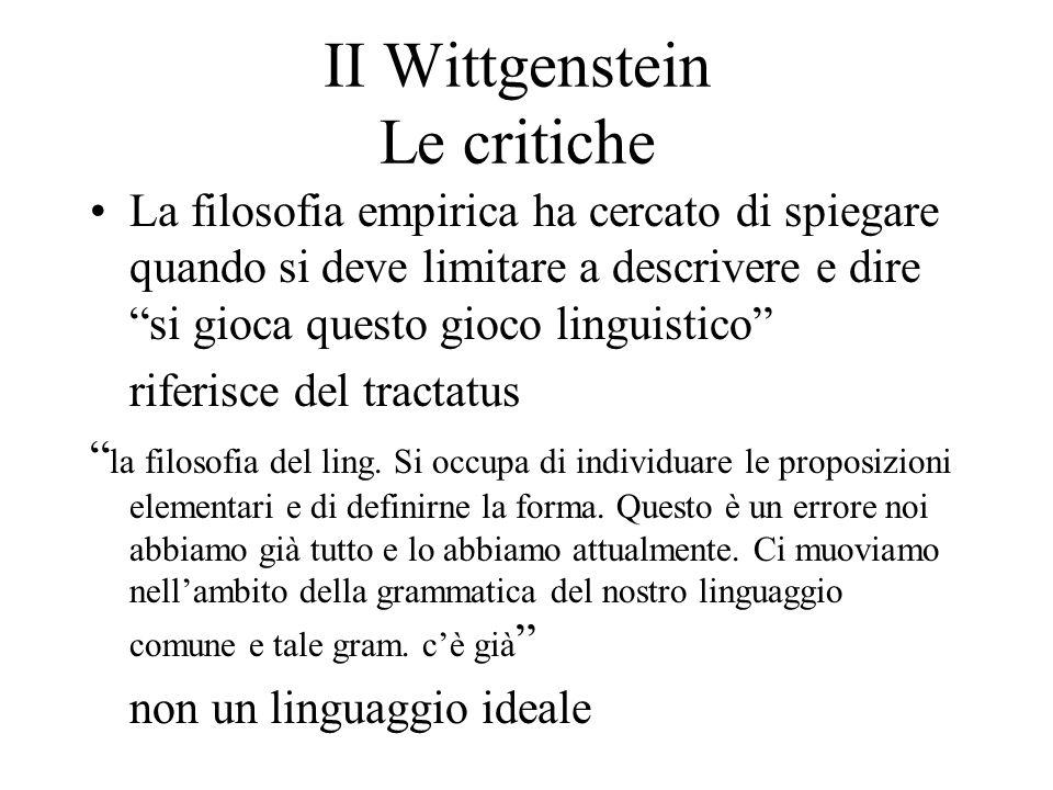II Wittgenstein Le critiche