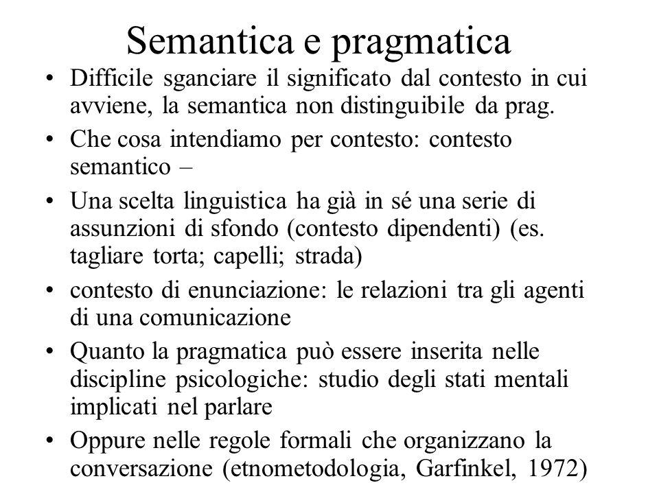 Semantica e pragmatica