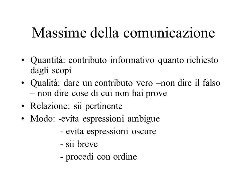 Massime della comunicazione