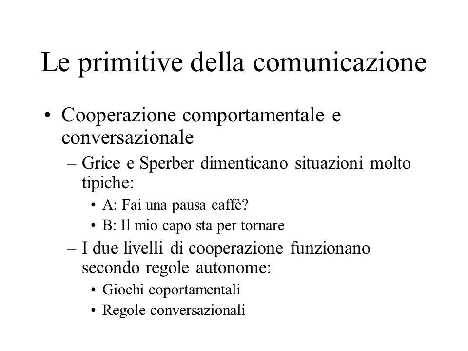 Le primitive della comunicazione