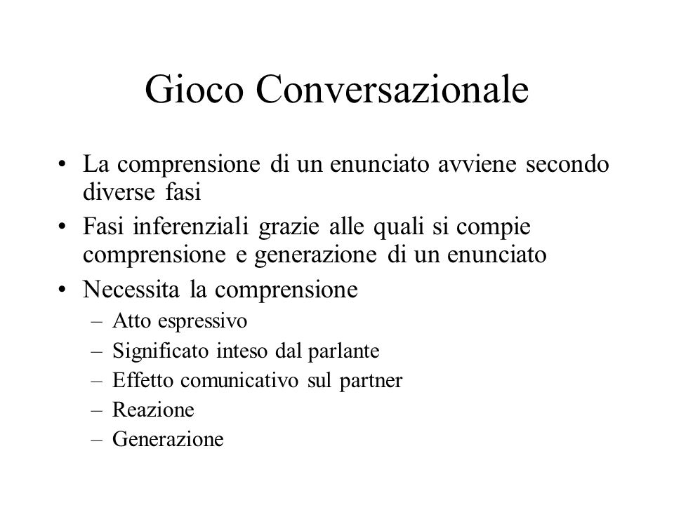 Gioco Conversazionale