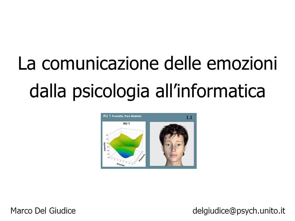 La comunicazione delle emozioni dalla psicologia all'informatica