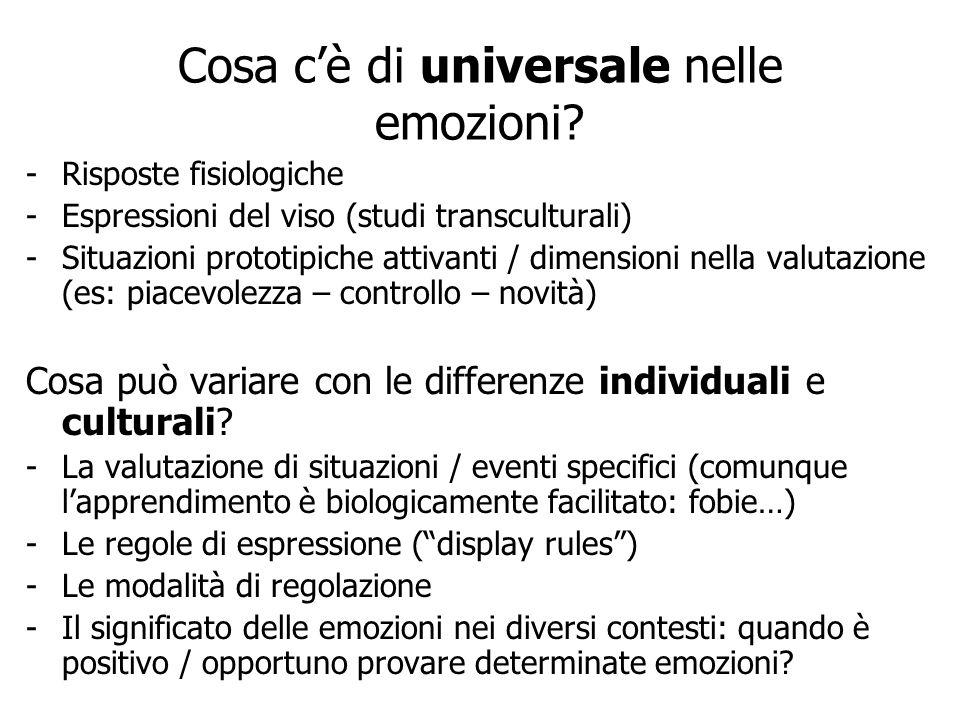Cosa c'è di universale nelle emozioni