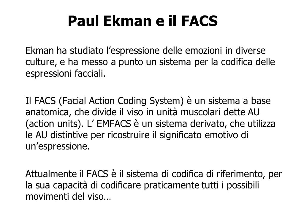 Paul Ekman e il FACS
