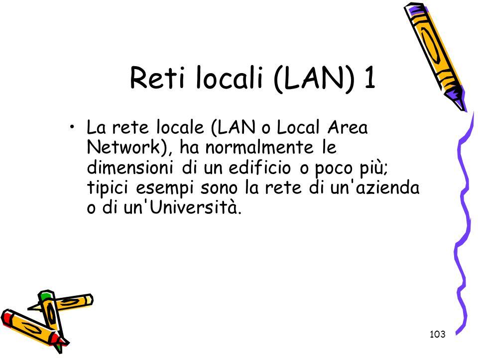 Reti locali (LAN) 1