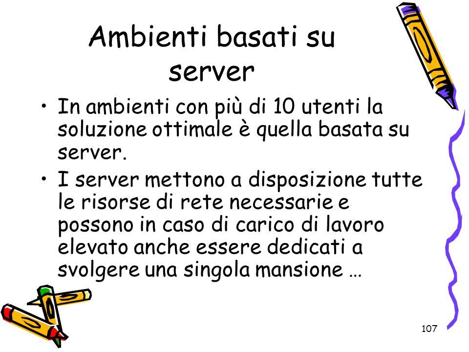 Ambienti basati su server