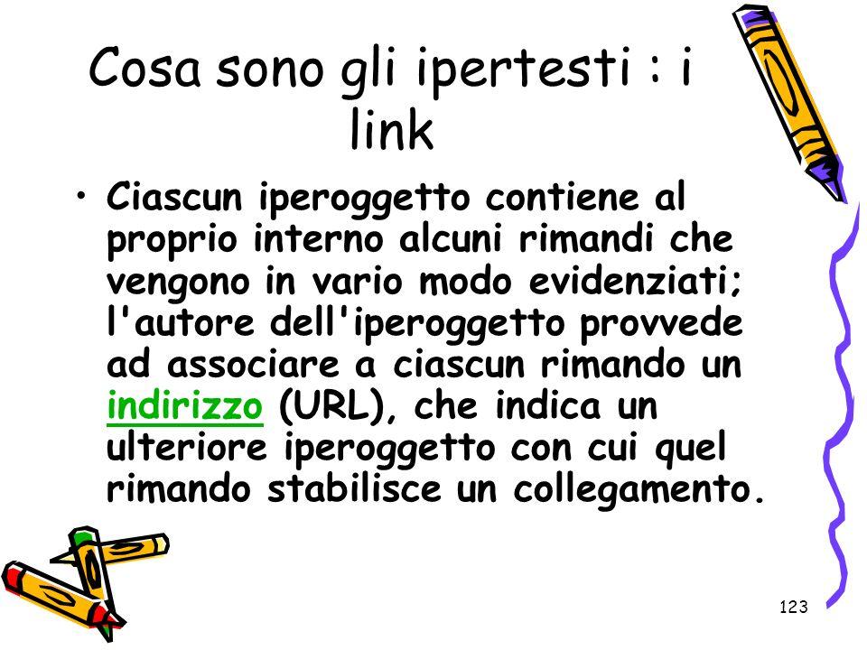 Cosa sono gli ipertesti : i link