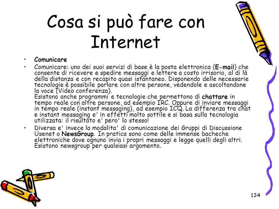Cosa si può fare con Internet