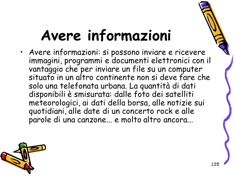 Avere informazioni