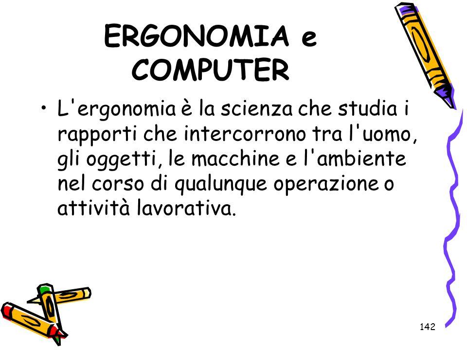 ERGONOMIA e COMPUTER