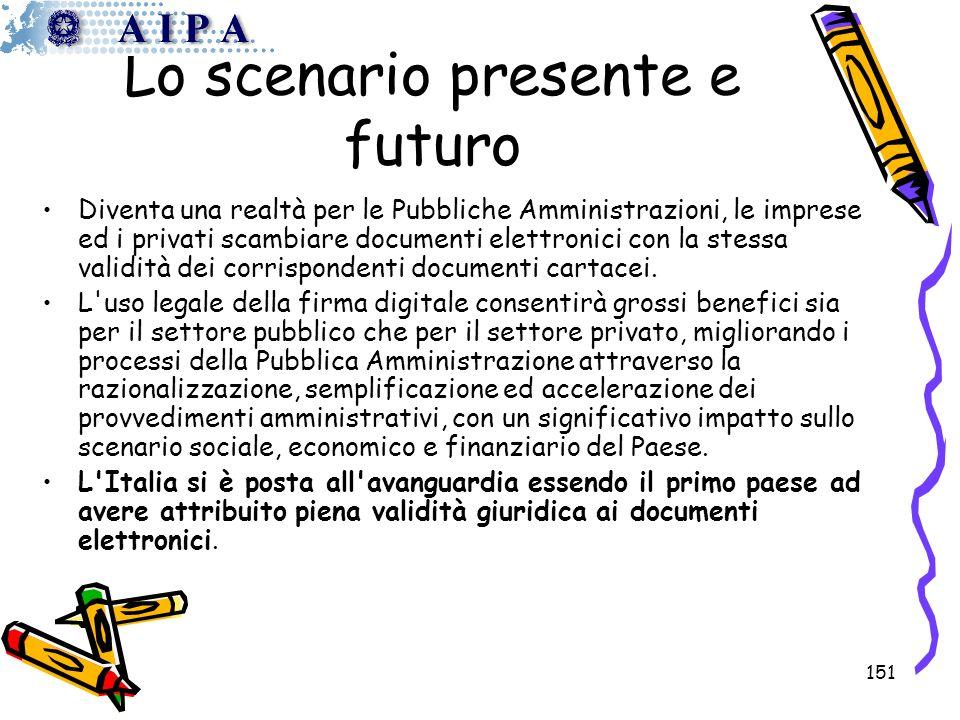 Lo scenario presente e futuro